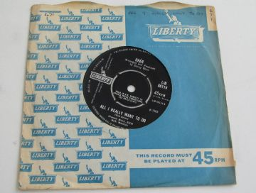 "Cher  ALL I REALLY WANT TO DO 1965 UK 7"" EX+ AUDIO"